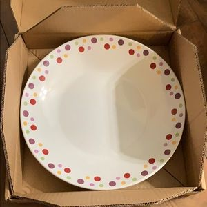 Pampered Chef Dots Large Round Bowl